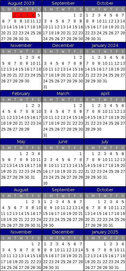 Free Availability Calendar